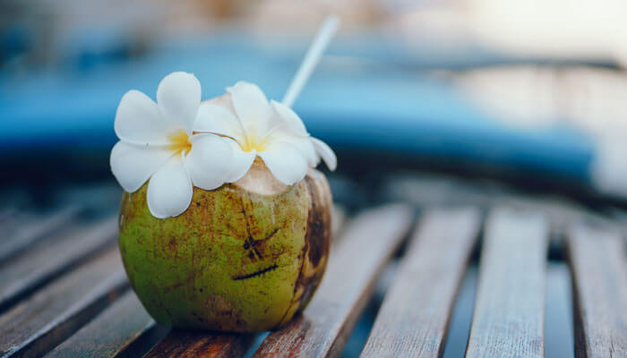 Coconut Water Served with Water